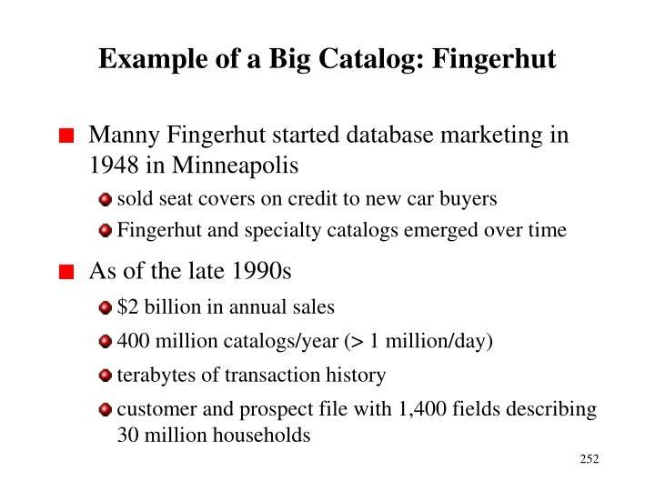 Example of a Big Catalog: Fingerhut