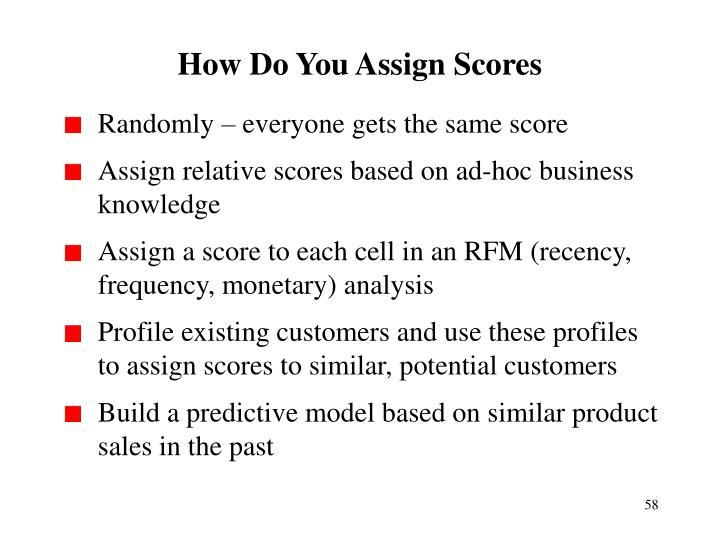 How Do You Assign Scores