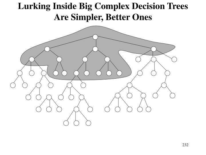 Lurking Inside Big Complex Decision Trees Are Simpler, Better Ones