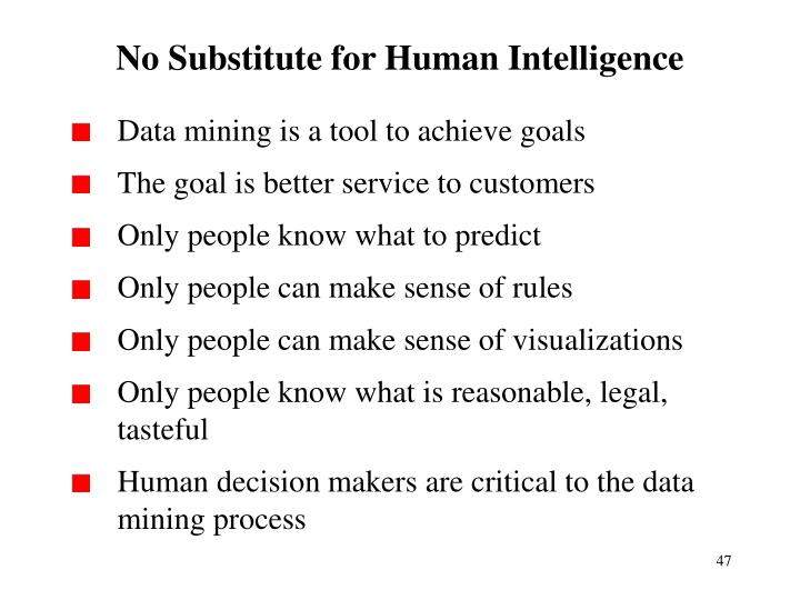 No Substitute for Human Intelligence