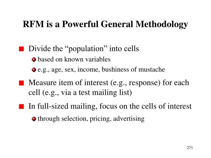 RFM is a Powerful General Methodology