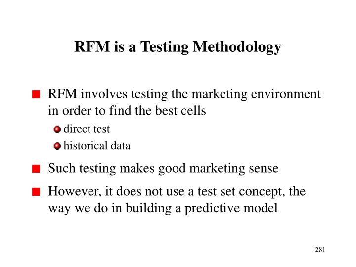 RFM is a Testing Methodology