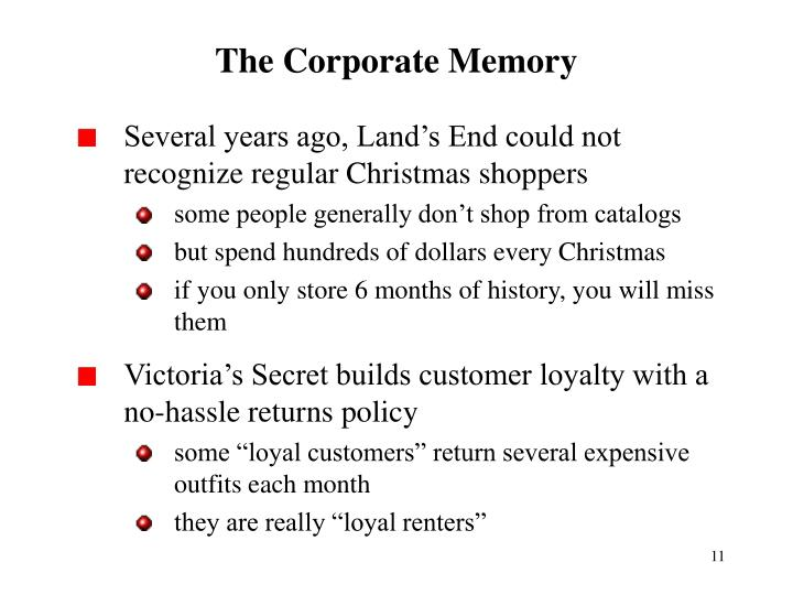 The Corporate Memory