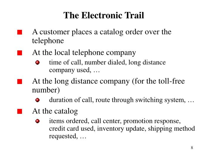 The Electronic Trail