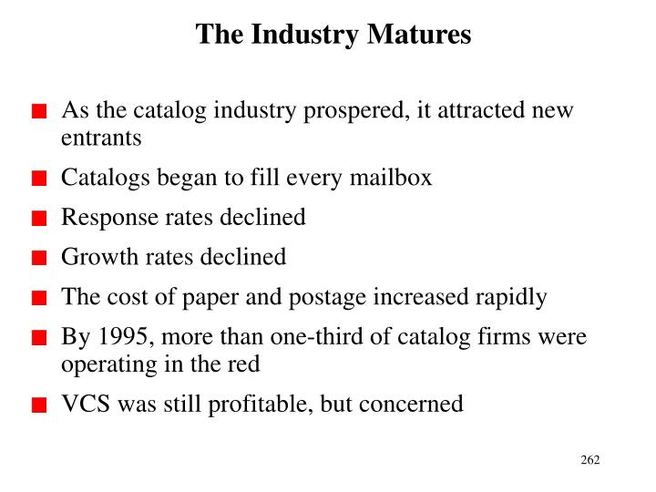 The Industry Matures