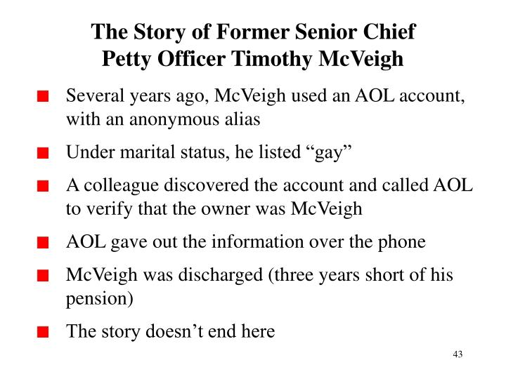 The Story of Former Senior Chief