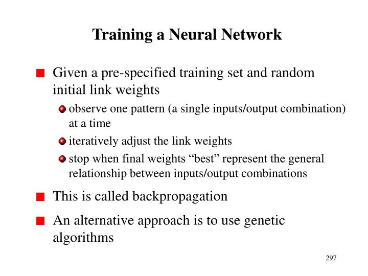 Training a Neural Network
