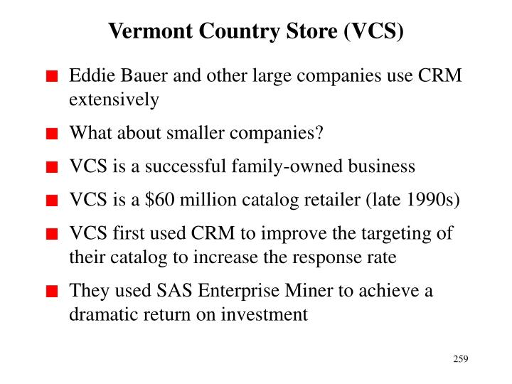 Vermont Country Store (VCS)