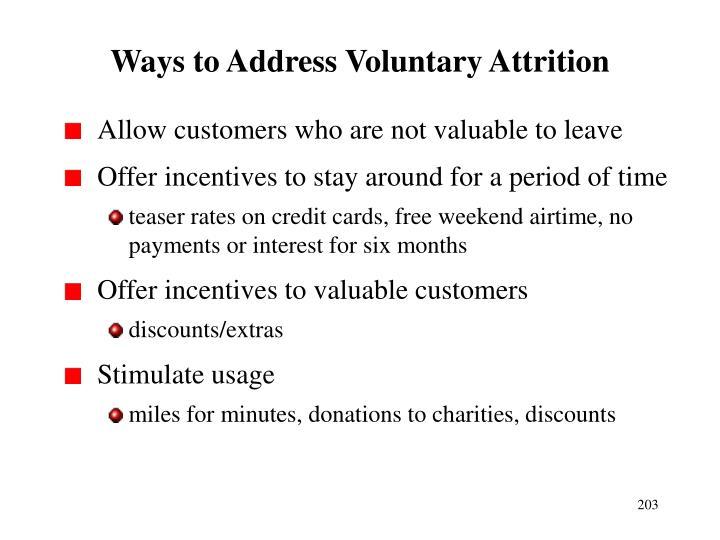 Ways to Address Voluntary Attrition