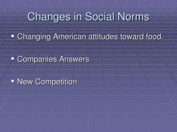 Changes in Social Norms