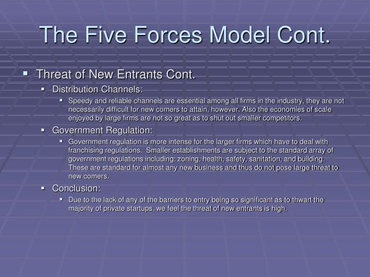 The Five Forces Model Cont.