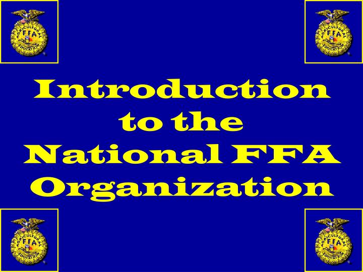 introduction to the national ffa organization n.