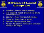 offices of local chapters