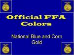 official ffa colors