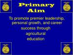 primary aim