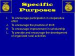 specific purposes2