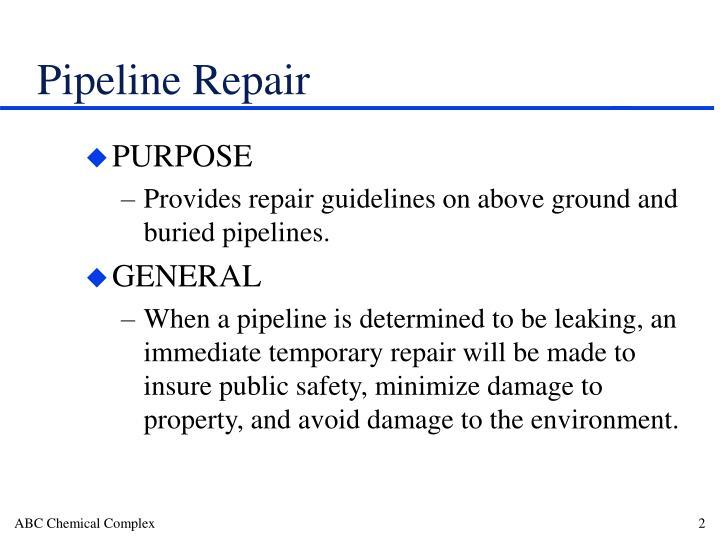 Pipeline repair1