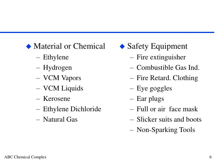 Material or Chemical