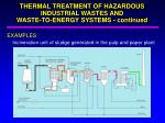 thermal treatment of hazardous industrial wastes and waste to energy systems continued1