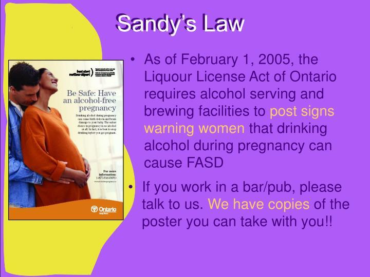Sandy's Law
