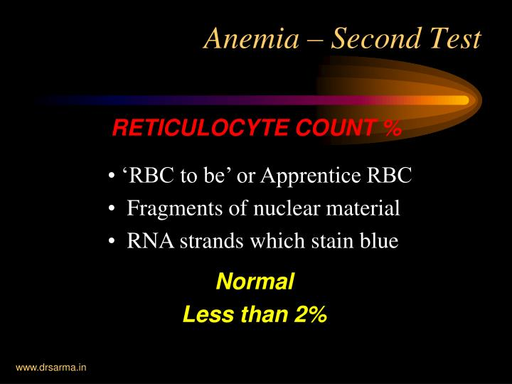 RETICULOCYTE COUNT %