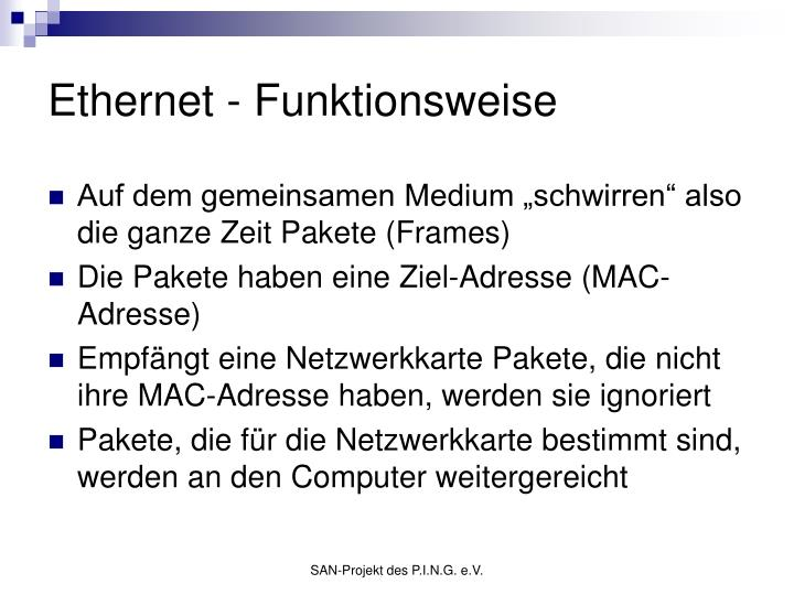 Ethernet - Funktionsweise