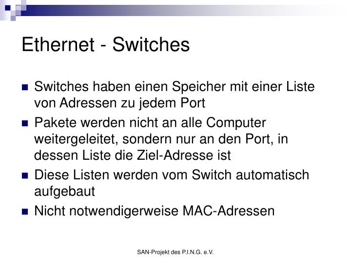 Ethernet - Switches