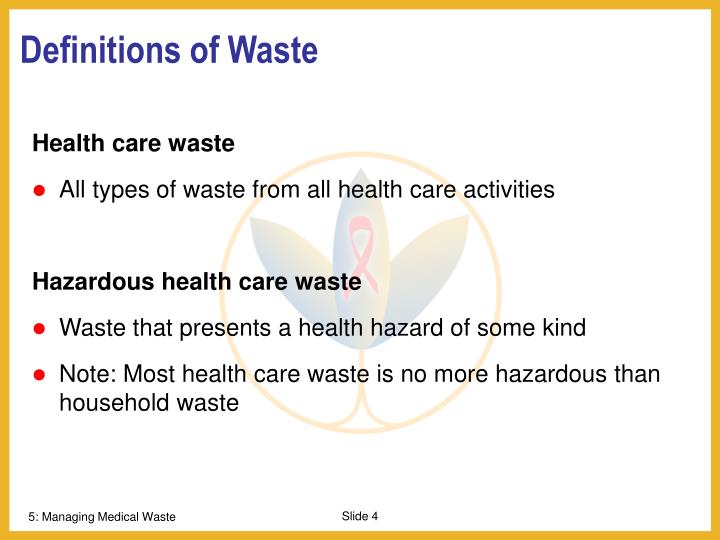 Definitions of Waste
