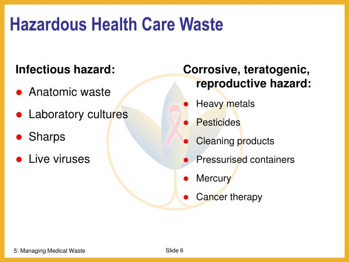 Infectious hazard: