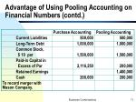 advantage of using pooling accounting on financial numbers contd1