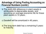 advantage of using pooling accounting on financial numbers contd5