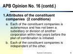 apb opinion no 16 contd