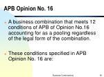 apb opinion no 16