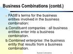 business combinations contd