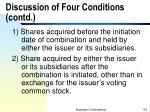discussion of four conditions contd1