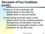 discussion of four conditions contd2