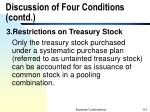 discussion of four conditions contd3