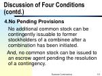 discussion of four conditions contd4