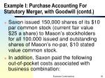 example i purchase accounting for statutory merger with goodwill contd