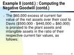example ii contd computing the negative goodwill contd