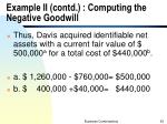 example ii contd computing the negative goodwill
