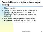 example iii contd notes to the example contd1