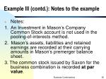 example iii contd notes to the example
