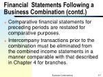 financial statements following a business combination contd2