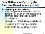 four methods for carrying out business combinations contd1