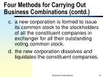 four methods for carrying out business combinations contd2