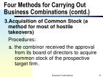 four methods for carrying out business combinations contd3