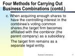 four methods for carrying out business combinations contd5