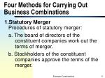 four methods for carrying out business combinations