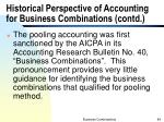historical perspective of accounting for business combinations contd1
